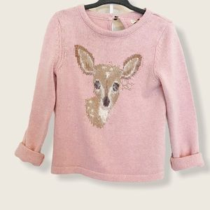 Forest Deer Sweater  Fluffy Skirt Set Size 4T